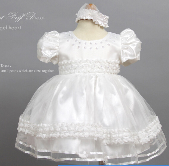 0-24M Babies flower girl short puff princess dress children baby birthday Infant GIRL dresses suit chair party wear clothes
