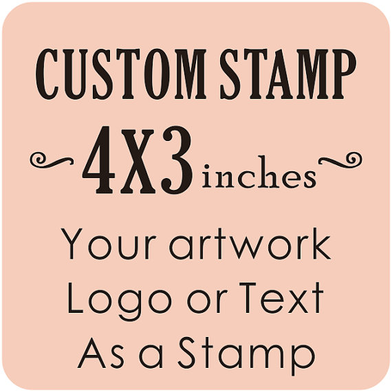 Customized 4x3 Inches Custom Logo Rubber Stamp Business Card