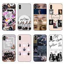 цена на Why dont we WDW silicone Soft Phone Case For iPhone Case Back Covers For iPhone 5 5s SE 6 6SPlus 7 8 Plus X10 XR XS MAX
