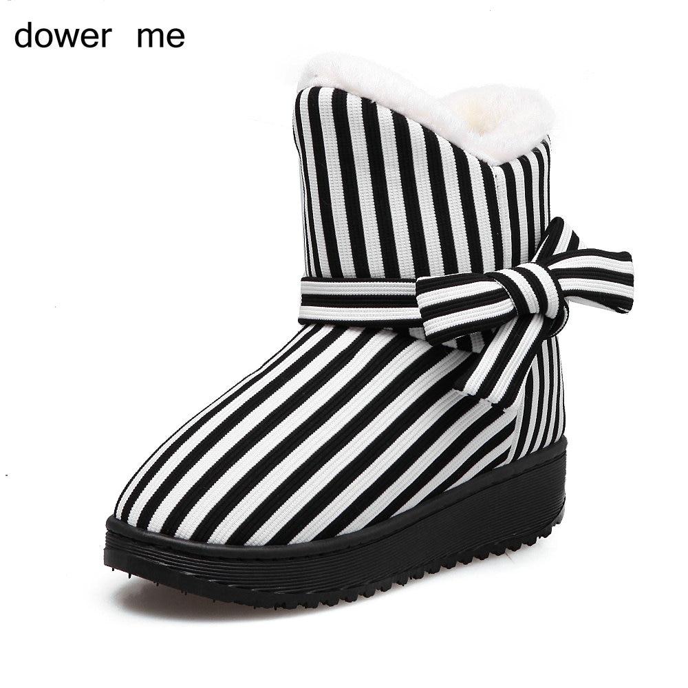dower me 2017 winter fashion ladies snow font b boots b font warm shoes home shoes