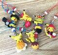 Hot Pokemon Pikachu Figura Brinquedo Presente da Criança Natal Cinta do telefone corda pingente Entrega Aleatória