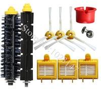 3x HEPA Filter 3x Side Brush Kit 1 Set Bristle Brush Replacement For IRobot Roomba 700