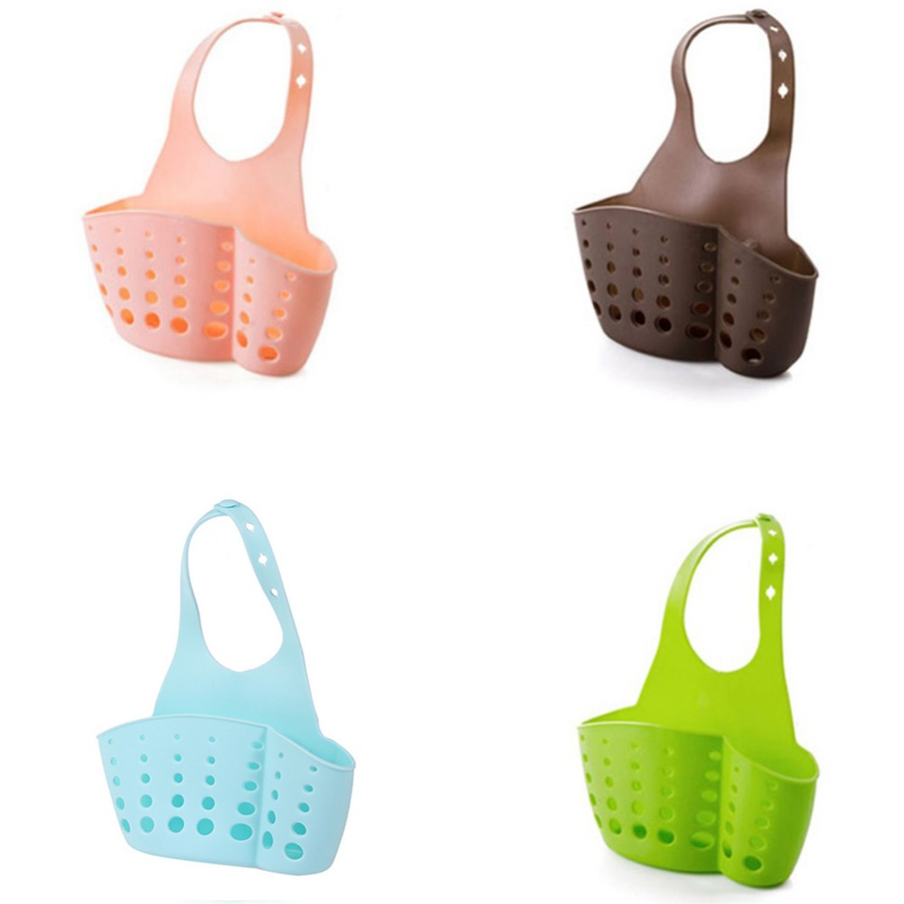 Sponge Dish Cloths Rack Portable Kitchen Hanging Bag Bathroom Sink Holder/%@