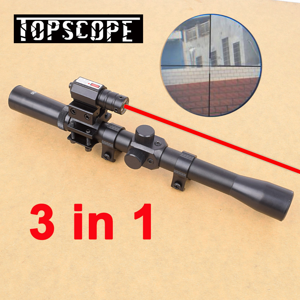 4x20 Hunting Riflescopes Sight Tactical Optics Airsoft Air Guns Scopes Sniper Reticle Pistol Reflex Sight Holographic Sight