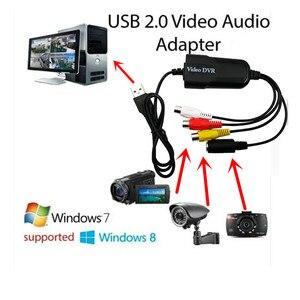 Image 5 - Portátil USB 2,0 AV/RCA compuesto y s video Audio Tarjeta de captura de vídeo VHS adaptador DVD