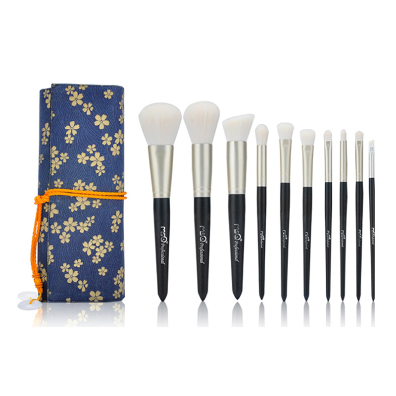 MSQ 10pcs Makeup Brushes Set Soft Hair Face Cheek Brush Powder Foundation Eyeshadow Make Up Brush Cosmetics Kit With Canvas Case 8pcs makeup brushes cosmetics eyeshadow eyeliner brush kit 15 color concealer facial care camouflage makeup palette sponge puff
