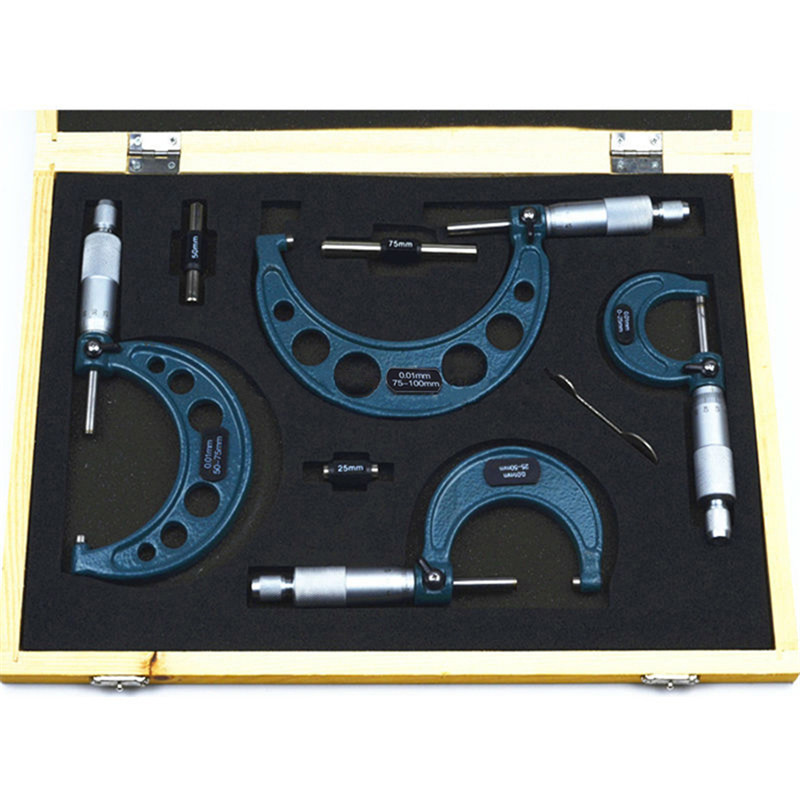 75mm 01mm Tools 4pcs Carbide 100mm Set Precision 0 75 Micrometer 50 25 0 50mm 25mm New Machinist Accuracy Outside
