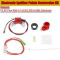 Nieuwe Set Elektronische Ontsteking Punten Conversie Distributeur Coil Kit Fit Alle Auto 'S Voor LUCAS 25D + DM2 Distributeur