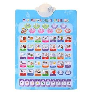 Ru & Pt Gráfico Fonético Aprendizado Do Alfabeto Brinquedo Eletrônico Brinquedo Do Bebê Educacional