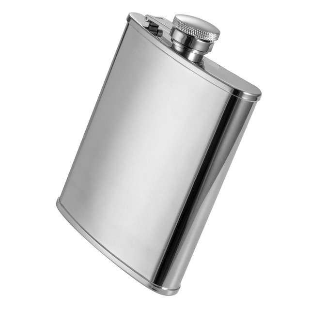 10pcs/lot good wholesale 6oz wine flask stainless steel for wine portable hip flask flagon as bar christmas gift for men matraz