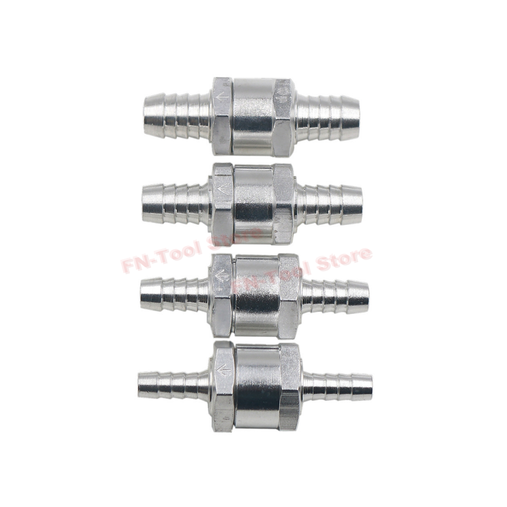 6/8/10/12MM OD Hose Connection Aluminums Alloy Fuel Non Return Check Valve One Way Petrol Diesel