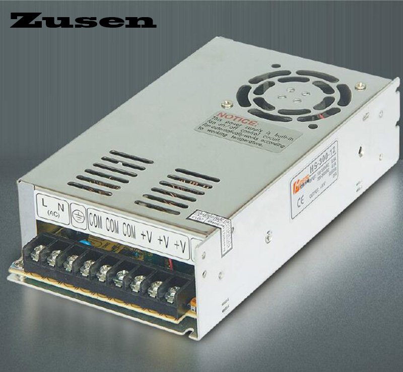 Zusen high quality S-300W 5V 12V 15V 18V 24V 36V 48V Single Switching Power supply 150w switching power supply 5v 12v 15v 24v 48v high efficiency low costs single out metal case ce approved 1pc ac85 264vin