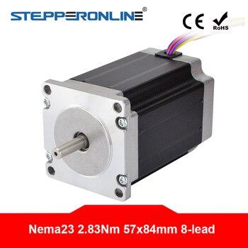 Nema 23 Motor de pasos 2.83Nm (400 oz) 57x57x84mm 8mm-cable 1,8 grado 4A para 3D impresora CNC láser Router