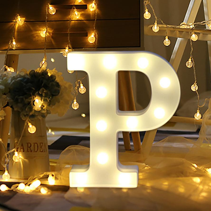 A Z Alphabet Letter LED Light White Light Up Decoration Symbol ...
