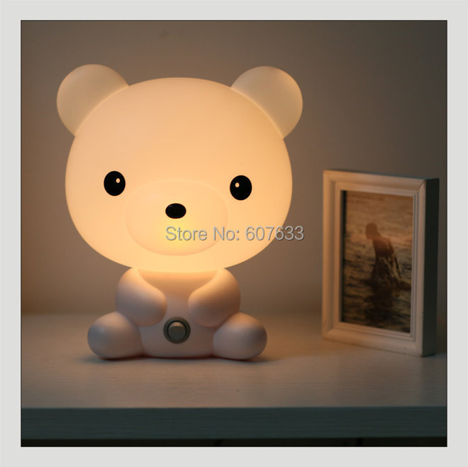 Mini Cartoon Table Lamp Lovely Dog Night Light Novelty Animal Child Bed  Lighting Personalized Bedside LampCreative Desk Lamp In Night Lights From  Lights ...