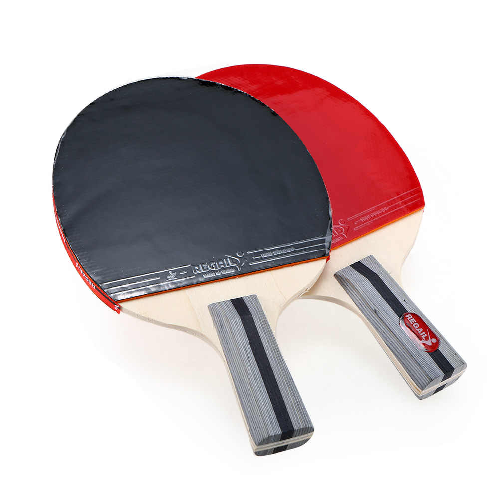 Ping Pong Paddle Set 2 Table Tennis Rackets and 3 Balls with Cover Bag Professional Carbon Fiber Table Tennis Racket