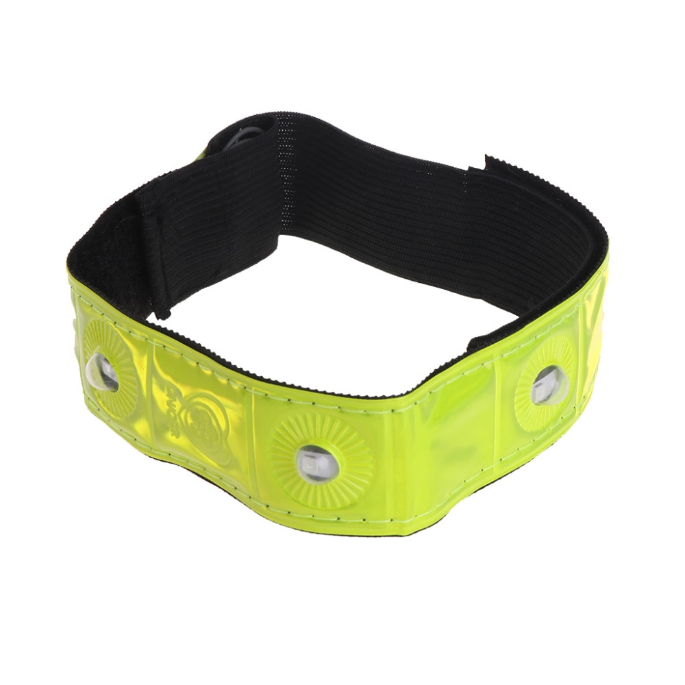 1 Pc 17g LED Light Cycling Arm Band Reflective Running Outdoors Safety Belt Wrist Straps