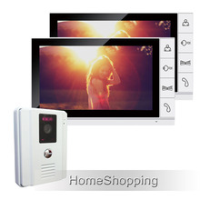 FREE SHIPPING Brand New 9 inch Color TFT LCD Screen Video Door Phone Intercom System + 1 White Door Camera + 2 Monitors IN STOCK