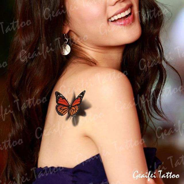 3d Schmetterling Tattoo Aufkleber Wasserdichte Frauen Korper