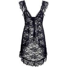 Sexy Lace Lingerie Dress Women Homewear Night Gowns + G-string Sexy Panties Nightwear Sleepwear Sets