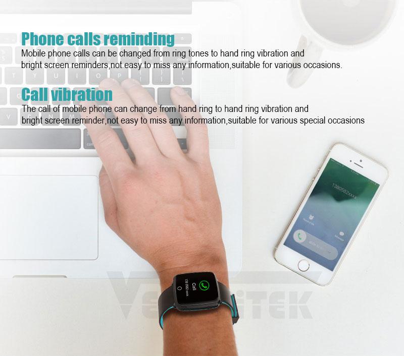 VERYFiTEK Smartwatch Blood Pressure Heart Rate Monitor Men Women Sport Watch Pedometer Stopwatch Smart Watch for IOS Android (9)