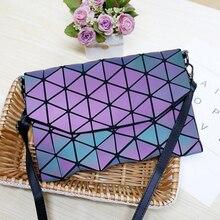 Матовая световой Для женщин вечерняя сумочка; BS010 Сумки на плечо Обувь для девочек щитка Сумочка Мода плед геометрические Повседневное клатч-конверт Курьерские сумки