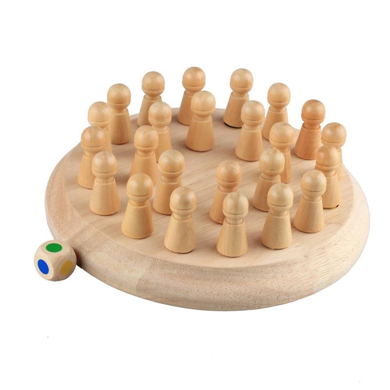 Fëmijët ndeshje kujtese prej druri shkop shahu lojë argëtuese - Të mësuarit dhe arsimimi - Foto 3