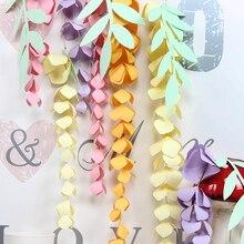 DIY Hanging Paper Wisteria Flower Garland Branch Decor Easter Wedding Nursery Spring Birthday Party Backdrop
