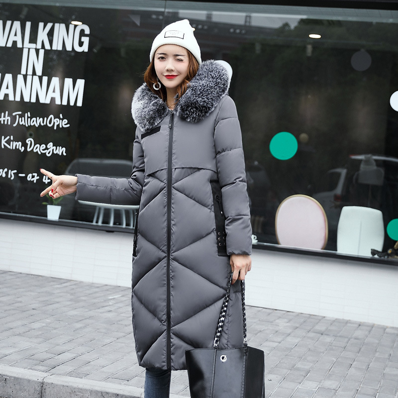 2017 New Winter Women Jacket Hooded Fashion Long Down Warm Female jacket Thick Plus Size Women Parkas Cotton Coats parkas IY166 high quality 2017 new winter fashion cotton thick women jacket hooded women parkas coats warm parka outerwear plus size 6l69