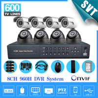 8 Ch Outdoor Waterproof Security Camera System Cctv 8CH 960h DVR NVR Kit DIY Video Surveillance