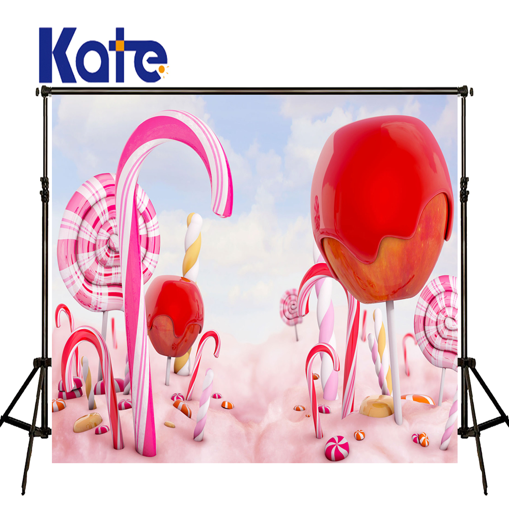 KATE Pastel Pink Background Lollipop Children Photo Background Fairy Tale Forest Baby Photography Backdrops for Photo Studio