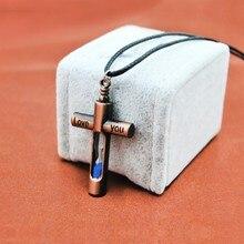 Original Vintage Cross Hourglass Necklaces Women Silver Chain Jesus Crucifix Pendants Necklace Men Prayer Christian Jewelry