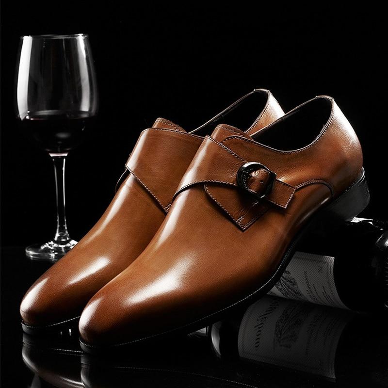Top Luxury Men's Genuine Leather Shoes New Fashion Trend Handmade Cowhide Shoes Men Business Dress Shoe Oxfords EUR Size 37-44