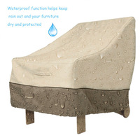 Waterproof 420D Oxford Cloth Coffee Table Cover Garden Outdoor Furniture Protective Cover Table Cloth Dustproof Textile