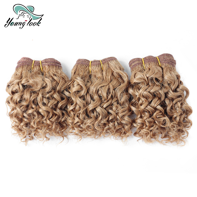 Younglook Hair Brazilian Water Wave 3 Bundles Human Hair Bundles Non Remy Hair Weave Extensions For Girls Gift Free Shipping