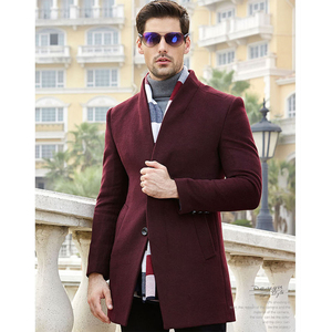 Image 4 - New Winter Men Wool Trench Coat Men Long Trench Slim Fit Overcoat High Quality Men Coats Fashion Trench Outerwear