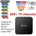Envío gratis Quad Core androd caja de la tv con 800 + Francés Árabe IPTV En Vivo TV Un Año Europa iptv Árabe envío Skysports Canal +