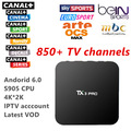 Free shipping Quad Core androd tv box with 800+ French Arabic IPTV Live TV One Year Europe Arabic iptv free Skysports Canal+
