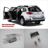 Car Door Ghost Shadow Lights For Subaru Outback 2012 2015 Courtesy Doors Lamp Brand Logo LED