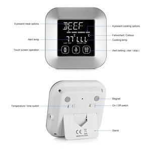 Image 2 - مقياس حراري رقمي للحوم احترافي مع 3 مجسات درجة حرارة من الفولاذ المقاوم للصدأ لأدوات إنذار درجة حرارة المطبخ