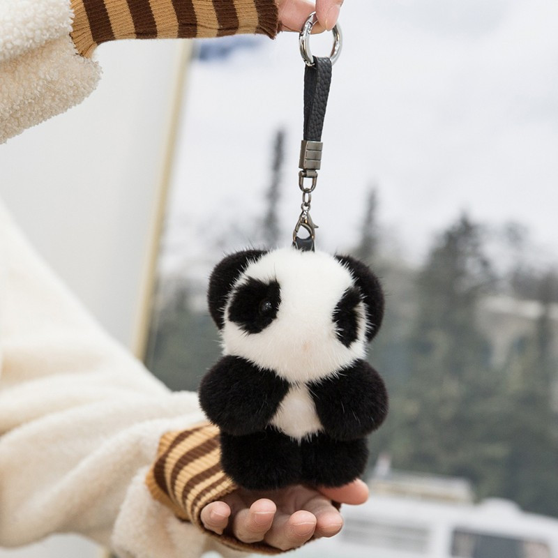 2018 Fur Bunny Rabbit Keychain Fashion pom pom keychain Fox fu fur keychain Toy Doll rabbit keychain Pendant Bag Car Charm