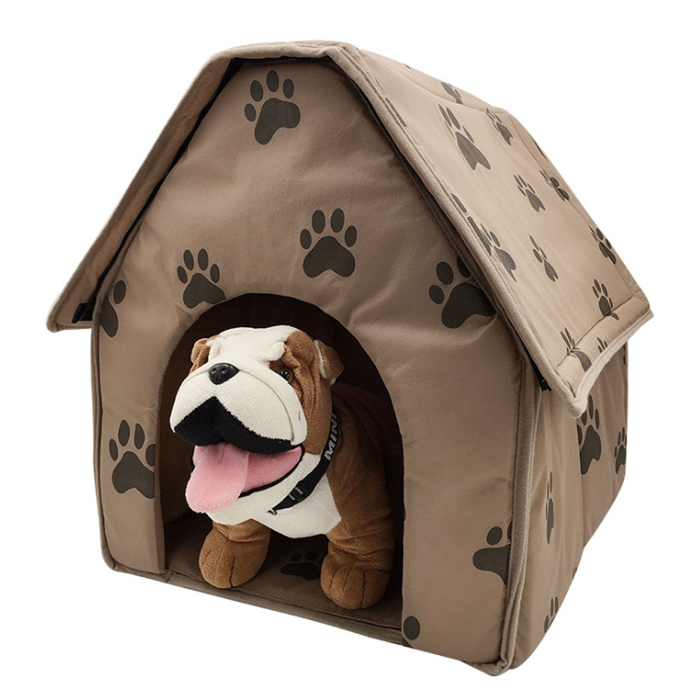 47 49 49CM Pet Cat Bed House Foldable Detachable Soft Feet Printed Pet Dog Cat Bed Warm House in Houses Kennels Pens from Home Garden
