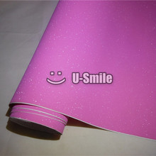 High Quality Pink Bling Sand Diamond Vinyl Sheet Foil Bubble Free Phone Laptop Ipad Sticker Size:1.52*30M
