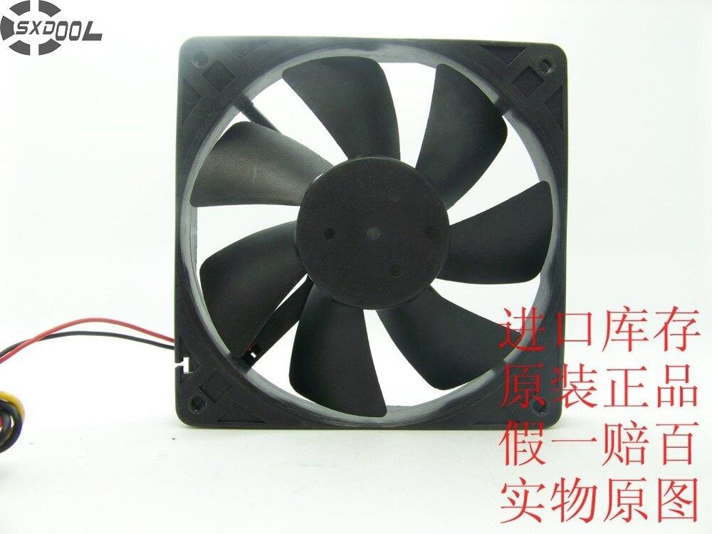 SXDOOL CHB12012BB 12025 12cm 120mm DC 12V 0.26A dual ball-bearing chassis power supply fan