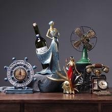 Decoración Retro Para el hogar figurillas de resina vintage cafetería Bar estatua creativa accesorios americanos desgastados armario escritorio artesanía regalo