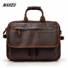 MAHEU Double Zipper Messenger Bag Men's Shoulder bag Genuine Leather Laptop Briefcase Man Leather Handbags Male Crossbody Bags - DISCOUNT ITEM  31% OFF All Category