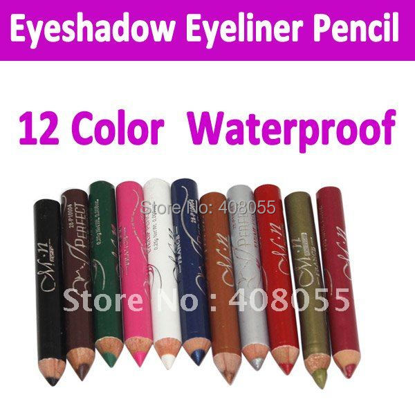 New 12 Color Makeup Eyeshadow Eyeliner Pencil 100% New High Quality Beauty Pen Eye Liner Free shipping