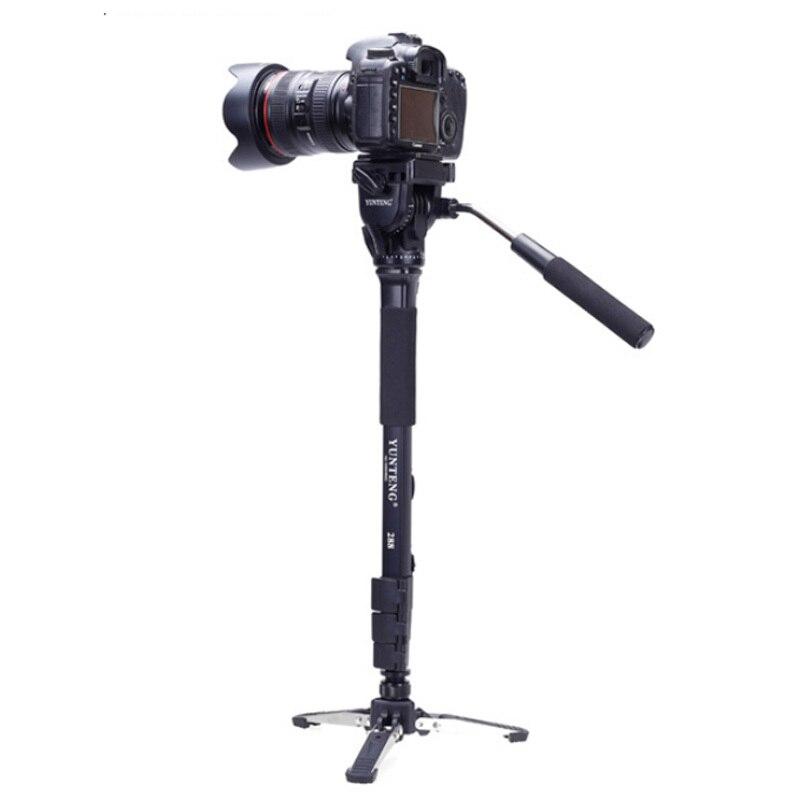 ФОТО Yunteng VCT-288 Camera Monopod Tripod with Fluid Video Pan Head & Unipod Holder For Canon Nikon DSLR Cameras