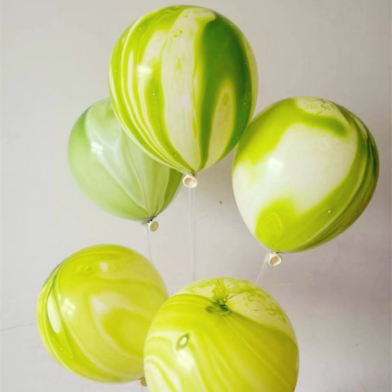 agate Balloons 30pc 12 Inch 2.8g Green Agate Balloon Decors Wedding Birthday Party Supplies baby shower celebration