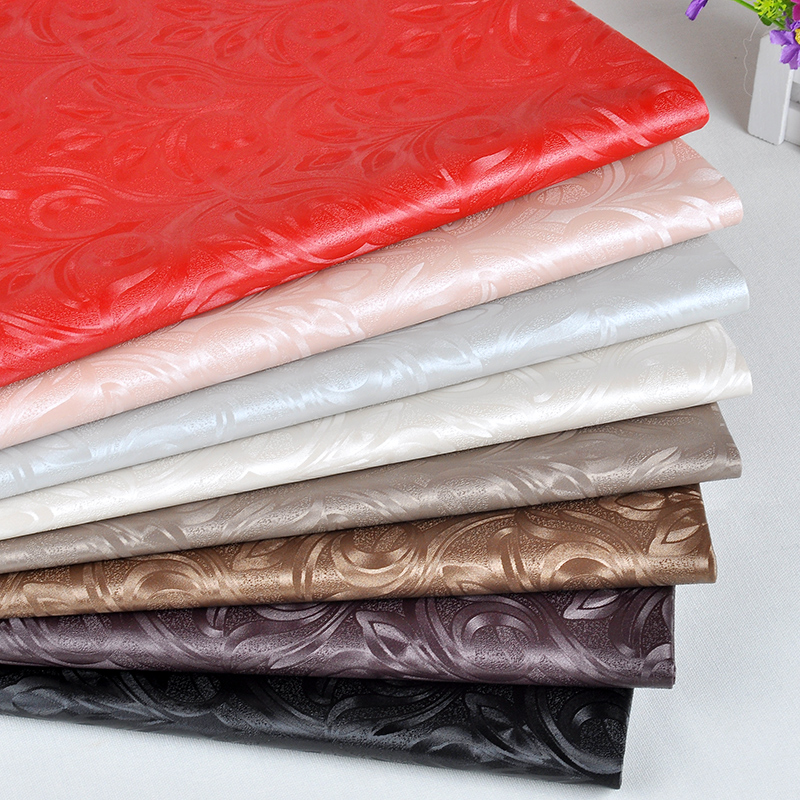 Semi Pu Embossed Leather Pieces For Diy Furniture Textiles Leather Craft  Waterproof Material Raw Vinyl Upholstery
